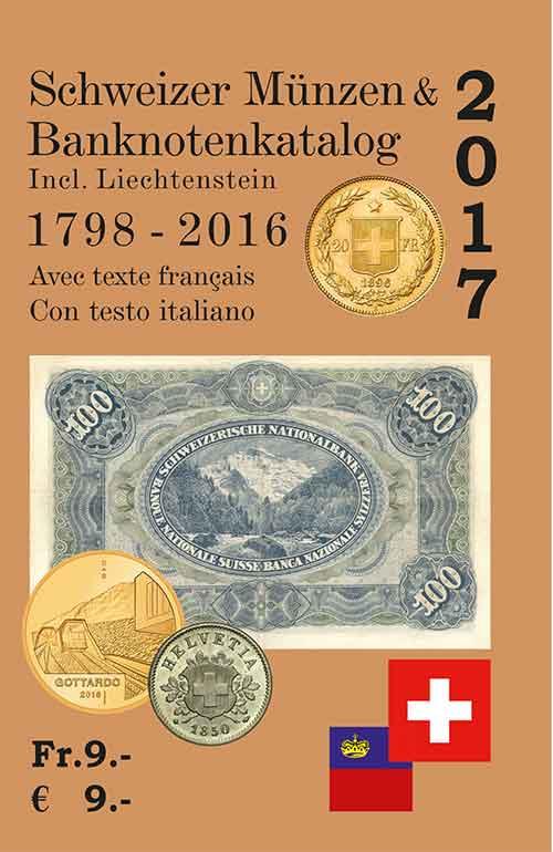 Schweizer Münzen Und Banknotenkatalog 2017